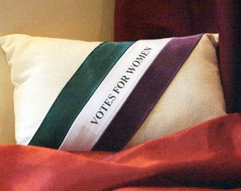 BIRTHDAY SALE! Votes for Women I: Womens Suffrage Inspired Miniature Pillow