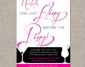 bachelorette party invitation - last fling - DIY printable file by YellowBrickStudio