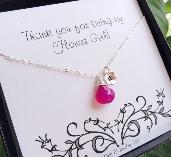 Gifts For Girls On Wedding: Flower Girl Thank You Gift Flower Girl Necklace By