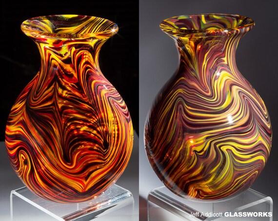 Lava Mix Hand-Blown Glass Vase