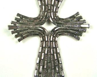 Modern Silver Style Cross