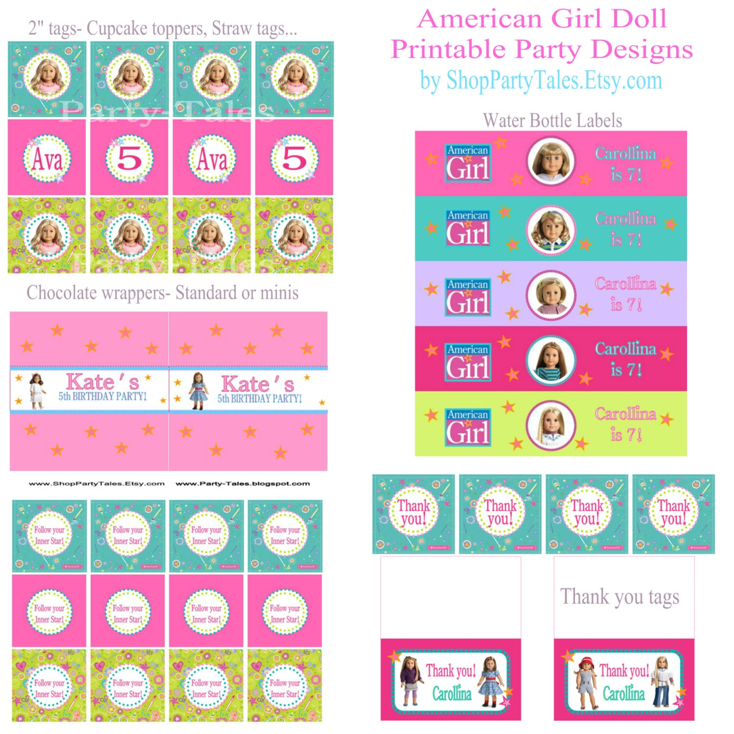 This is a graphic of Candid Ag Doll Food Printables
