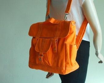 Pico2 Backpack -  ON SALE , Orange, Satchel / Rucksack / Messenger Bag /Diaper Bag/ School Bag/ Women /For Her/  40% OFF