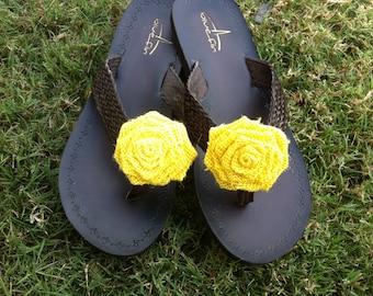 Burlap Shoe Clips