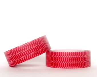 Red Curly Brackets Washi Tape
