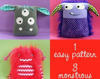 Knuckleheads Monster Plush Pattern PDF