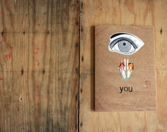 Valentine Eye Heart You Love Eco Friendly Art Greeting Card