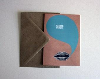 Welsh Santes Dwynwen Valentine Tisho Sws Kiss Eco Friendly Art Greeting Card