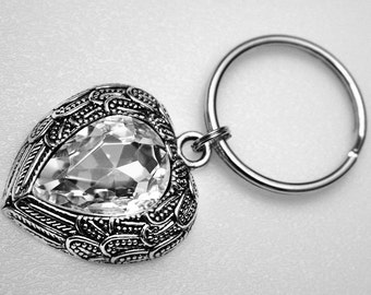 Key Ring - Sparkle Heart 2