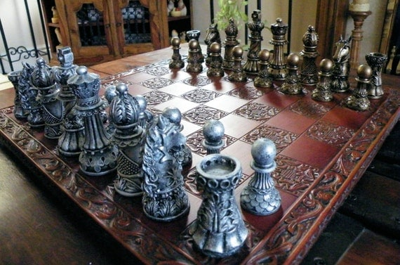 Used ornate staunton chess set pieces by chessmouldsandmore - Ornate chess sets ...