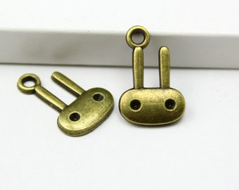 50Pcs Antique Brass rabbit Charm rabbit Pendant 18x11mm (PND339)