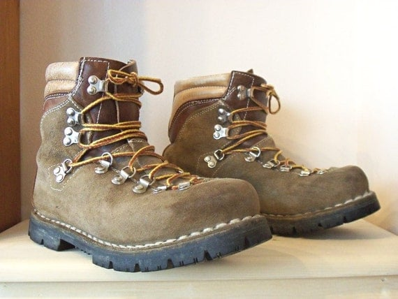 Vintage 70 S Kinney Colorado Hiking Boots Suede With