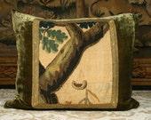Antique Verdure Tapestry PIllow
