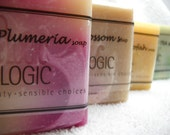 Handcrafted Soaps SALE Pick 4 Soaps for 4.75 each, Naturally made with Olive Oil by Bon Logic
