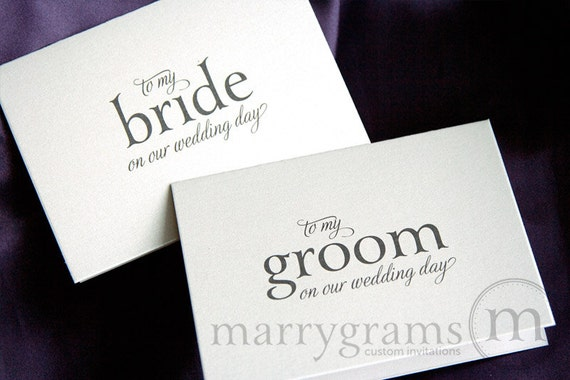 Wedding Card to Your Bride or Groom on Your Our Wedding Day