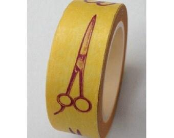 Japanese Washi Masking Tape - Scissors - 11 Yards