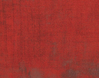 Burgundy Red Grunge Fabric from Moda 1 Yard