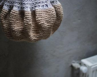 Large Beige Crochet hobo tote eco-friendly bag beige