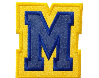 Double Applique Varsity Collegiate Machine Embroidery Font Monogram Alphabet - 4 Sizes