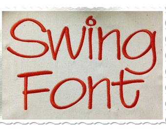 Swing Machine Embroidery Font Monogram Alphabet - 3 Sizes