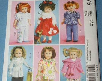 New McCall's 18' doll Clothes Pattern M5775