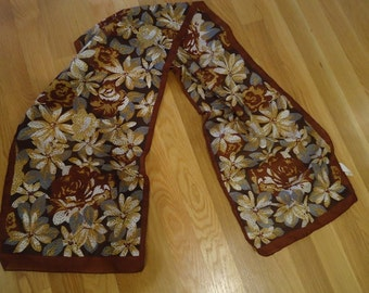 Berkshire Brown Floral Scarf