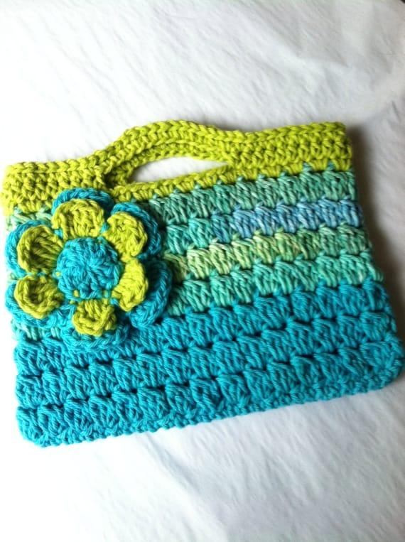 Child Purse, Crochet Child Purse with Flower, Crochet Purse, Summer Purse, Purse, Purse with Flower
