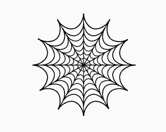 INSTANT DOWNLOAD Spider web embroidery design