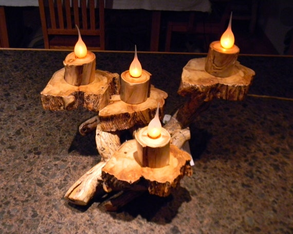 Items similar to candelabra centerpiece modern rustic