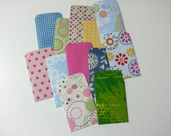 Gift Card Envelopes 12 pcs, Gift Card Holders, Chinese Angpao Style Envelopes, Scrapbooking Envelopes, Seed Packet Envelopes, Gift Cards