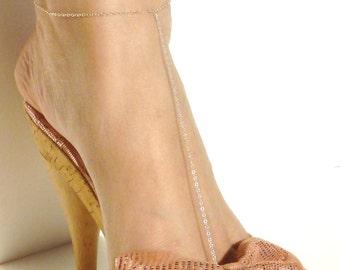 Anklet - Elegant Gold Filled, Sterling Silver - Slave Anklet - Delicate Anklet - Beach Jewelry - Bridesmaids // Aylin Madden