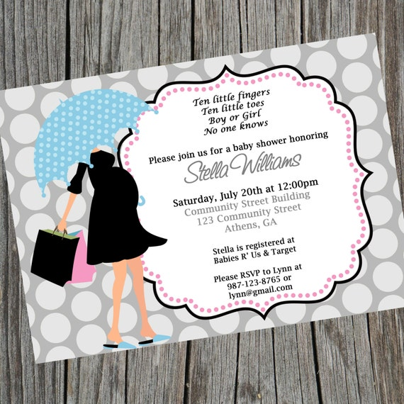 Baby shower invitation gender neutral baby shower invite umbrella il570xn filmwisefo