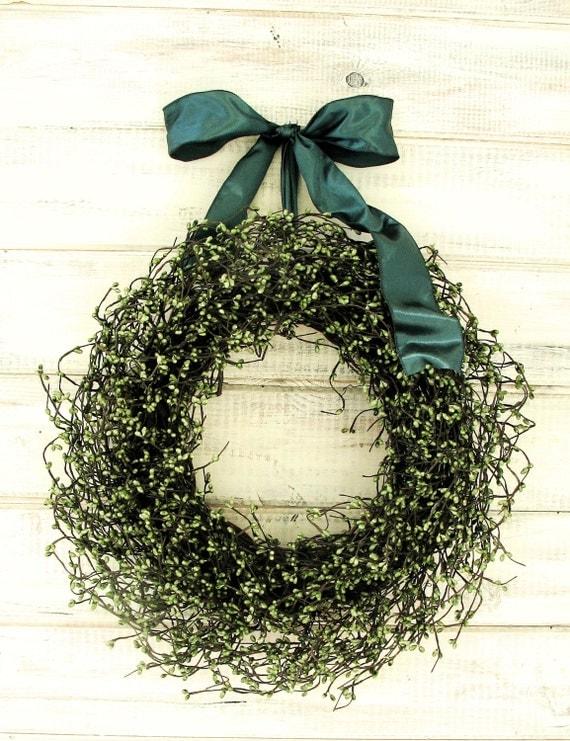 Christmas Wreath-Winter Wreath-Rustic Door Wreaths-SAGE GREEN Wreath-Wedding Gift-Woodland Wedding Decor-Farmhouse Home Decor-Scented Wreath