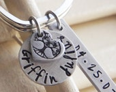Personalized Keychain for Mom Custom Kids Name Family Tree Gift For Her