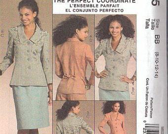 McCalls M5335 Sewing Pattern Wardrobe Size 8-10-12-14 Lined Jacket, skirt, slacks, dress Palmer/Pletsch