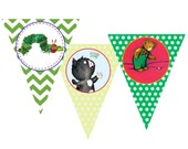 Children's Book Themed Pennant Banner- Collection Featured on HWTM Blog- INSTANT DOWNLOAD