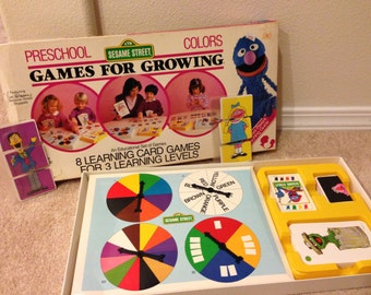 1987 Sesame street Board games for growing 8 learning games for preschoolers