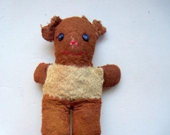 Vintage Teddy Bear Plush 1950s