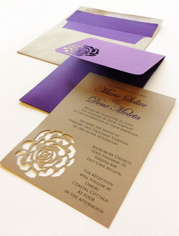 Special Wedding Invitations : Rose Wedding Invitation - Wedding Invitation - Wedding - Stationery ...