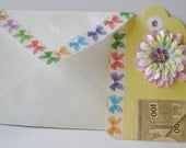 Paper Goods- Gift Tag - Flowers - Play Money- Envelope- Handmade- All in one Tag - Card - Gift Pocket - Envelope