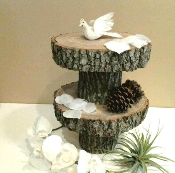 Treasury Item 2 Tier Rustic Wedding Oak Tree By Jtlcreations