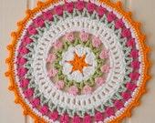 I Love Holland Dutch Tulips Crochet Mandala Pattern PDF