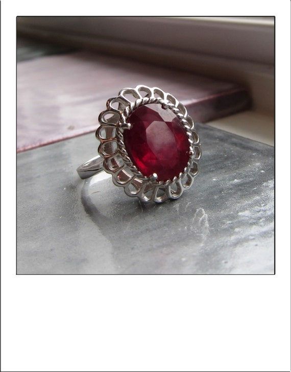 HOLDING for NorthernYarns  --  Gorgeous Large 14k Estate 5 Carat Ruby Ring - 3,300 Appraisal - Amazing Ring