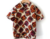 Boy's Size 5 Short Sleeve Shirt - African Wax Print