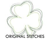 Reverse Shamrock Applique and Machine Embroidery Design File 4x4 5x7 6x10 7x11 8x12