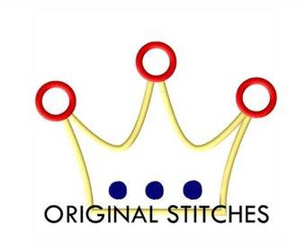 Princess Crown Applique and Machine Embroidery Digital File 4x4 5x7 6x10 & BONUS Add On Size