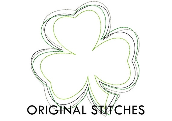 Items similar to reverse shamrock applique and machine