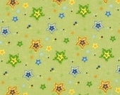 Baby Green and Yellow Stars Fitted Crib Sheet