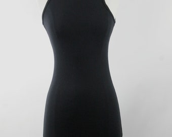 Vintage Sleeveless Little Black Dress From Express circa 1980s.  Size S