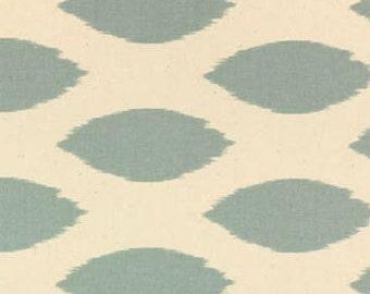 Two 26 x 26 Custom Designer Decorative Pillow Covers Euro Shams - Village Blue/Natural - Oval Ikat